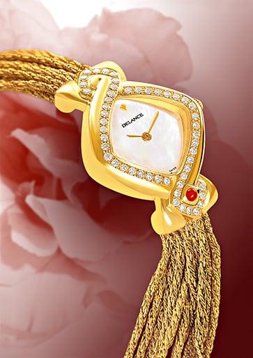 INFINITY GOLD CASCADE - Symbole du fleuve éternel de la vie